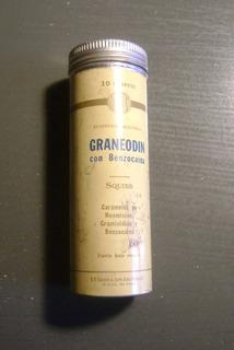Antiguo Envase De Lata Caramelos Graneodin Squibb Decada