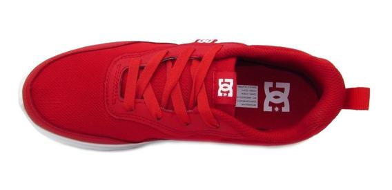 Tenis Dc Shoes Para Niños Hartferd Rojo Blanco