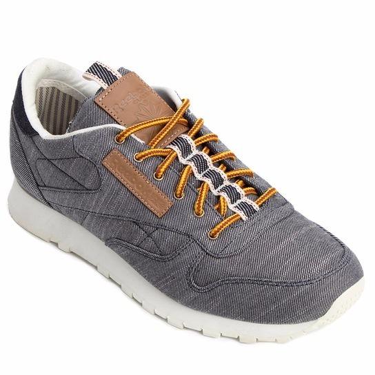 Tênis Reebok Cl Leather Dp Jeans Denim Pack