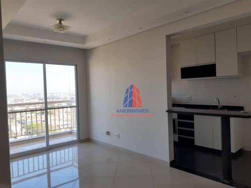 Apartamento Com 3 Dormitórios À Venda, 70 M² Por R$ 350.000,00 - Vila Belvedere - Americana/sp - Ap0435