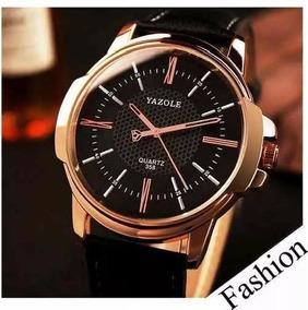 Relógio Original Yazole Modelo 358 Pulseira Em Couro