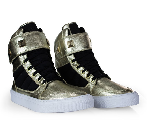 Sneaker 1003 Fitness Feminina Cheia De Marra Dourado