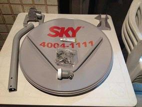 5 Antenas Sky , 5 Lnb ( Universal Duplo) 1 Caixa De Cabo