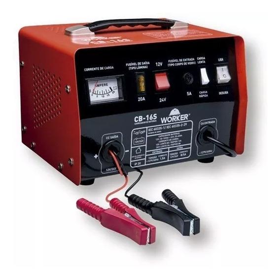 Carregador De Baterias 12 E 24v Até 150a 127v Worker - Cb16s