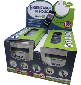 Higienizador De Bolso Implastec Alcool Isopropilico 70%
