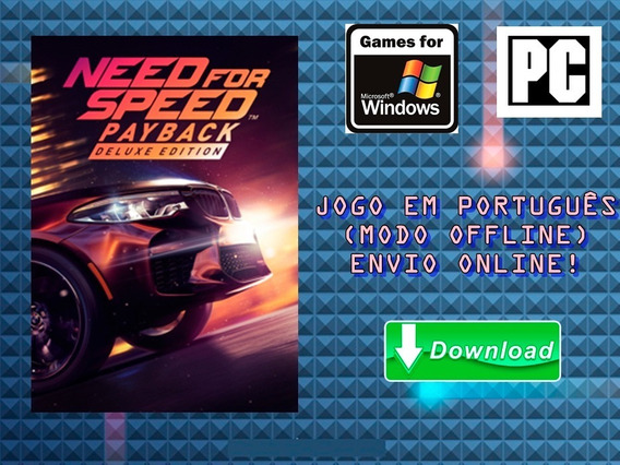 Need For Speed Payback - Pc - Mídia Digital!!!