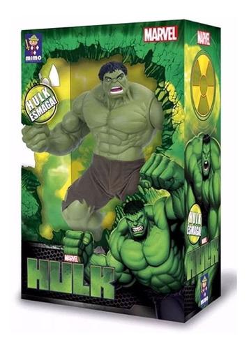 Boneco Articulado Hulk  Premium Verde Vingadores Mimo