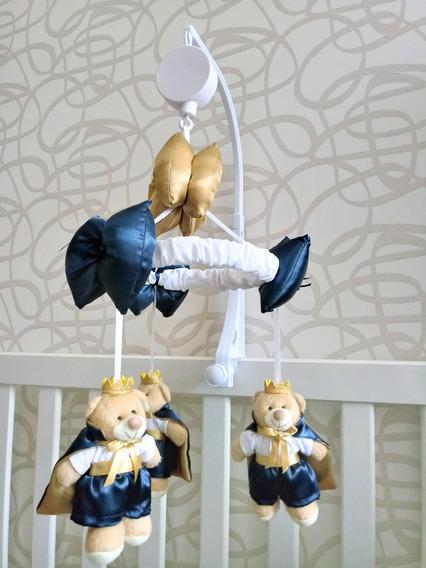 Mobile Musical E Giratório Urso Principe Azul Berço Bebe