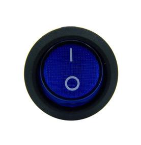 12 Botão Led Liga/desliga 12v Chave Gangorra Azul Barato
