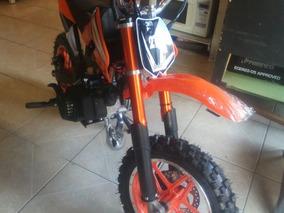Moto Cross 50cc 2t De Gasolina Con Marcha, Azul, Rojo, Negro