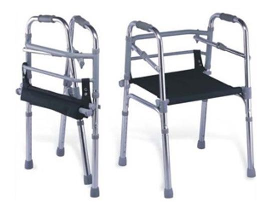 Andadera Ortopedica Plegable Altura Ajustable Con Asiento