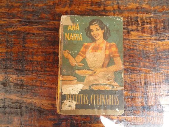 Antigo Livro Receitas Culinárias Ana Maria Raro 1953 Barato
