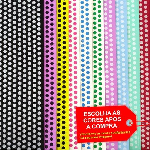 Folha De Eva Estampado Poá Fashion 40x60cm - 5 Unidades