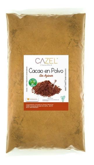Cacao En Polvo Cocoa 100% Natural Oaxaca Artesanal 2kg