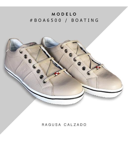 Zapatillas De Cuero Boating Hombre - Envío Gratis!!
