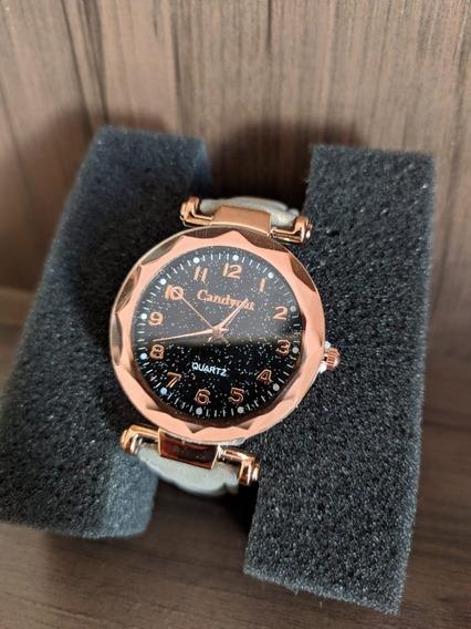 Relógios Feminino De Pulso Cinza Quartzo Moda Feminina