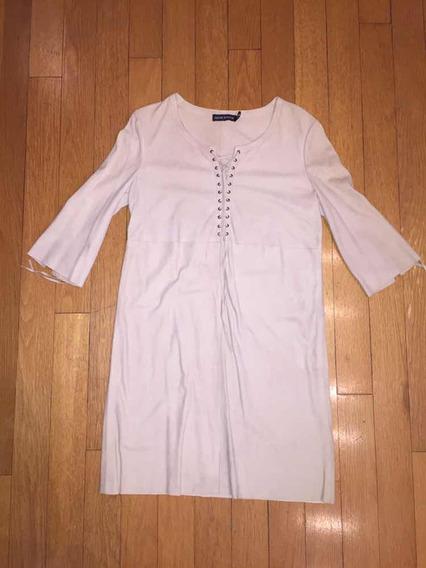 Vestido Gamuza Beige Antik Batik. Talle M/40