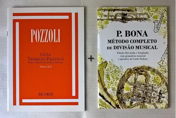 Kit Guia Teórico-prático Pozzoli E P. Bona Método Musical