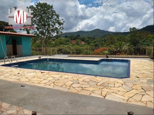 Linda Chácara Com 03 Dormitórios, Piscina, Edícula, Ótima Localização, À Venda, 3000 M² Por R$ 430.000 - Zona Rural - Pinhalzinho/sp - Ch0818