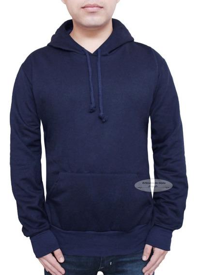 Sudadera Hoodie Azul Blue Marino Lisa Suéter Abrigo Regalo A