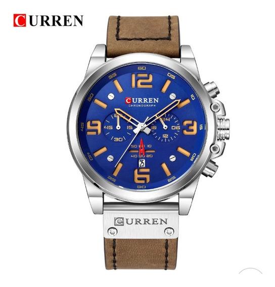 Relógio Curren 8314 Masculino Couro Top Original Promoção