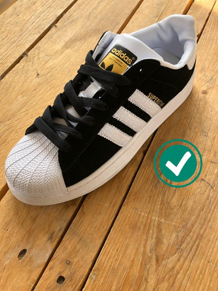 Zapatillas Superstar adidas Originales Negras Gamuza
