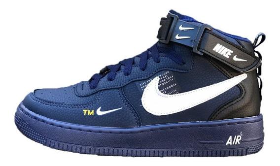 Tenis Bota Nike Air Force Cano Alto Frete Gratis + Brinde