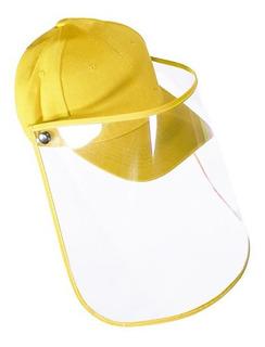 Gorra Unisex Careta De Protección Transparente Ajustable