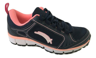 Tenis Mujer Karosso 3325 Correr Casual Textil Azul Marino