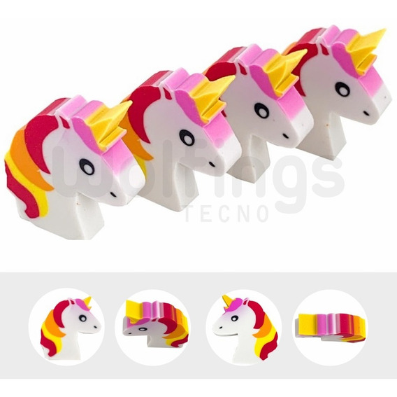 Goma De Borrar Mini Unicornio Cabeza Infantil Souvenir