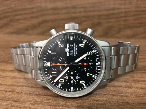 Fortis Pilot Professional Black Dial Chronograph 40mm Daydat