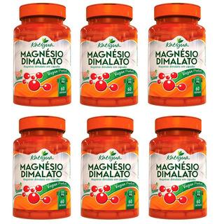 Kit 6 Magnésio Dimalato - 60 Cps Vegan - 550mg Katiguá