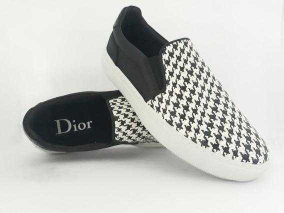 Sapatênis Slip-on Christian Dior Em Couro Legítimo
