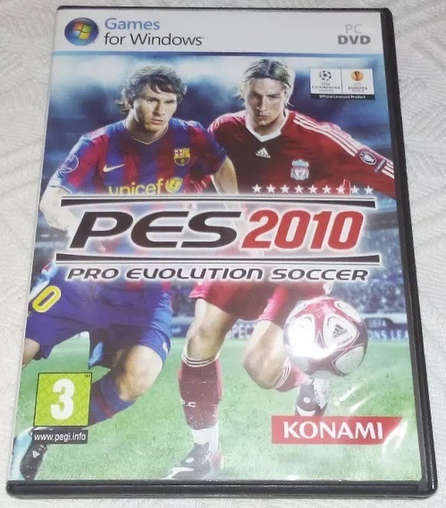 Pes 2010 Pro Evolution Soccer Pc Dvd - Apenas Capa + Manual