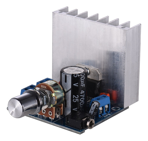 Módulo Amplificador De Áudio Estéreo 2.0 35w + 35w Dual-chan