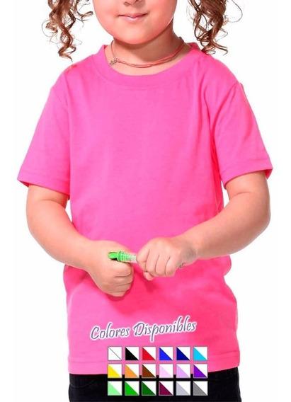 Pack Oferta X12 Remeras Lisas Niño-100% Algodón