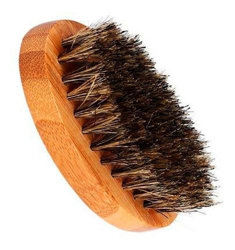 Imagen 1 de 4 de Cepillo Para Barba De 8cms Envio Gratis Con Cerdas Genuina 1000% Jabalí  Mango De Madera Resistente E Ideal Para Viaje