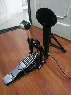 Pad De Bombo Para Bateria Electrónica + Pedal De Bombo