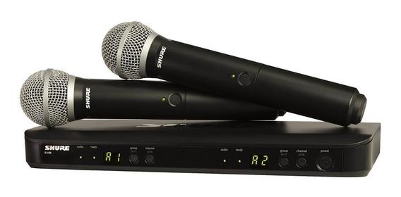 Microfono Blx288/pg58-k12 Dual Pg58 Sistema Vocal Shure
