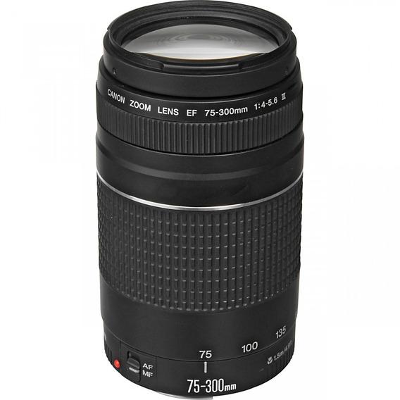 Lente Canon Ef 75-300mm F / 4-5.6 Iii + Nf