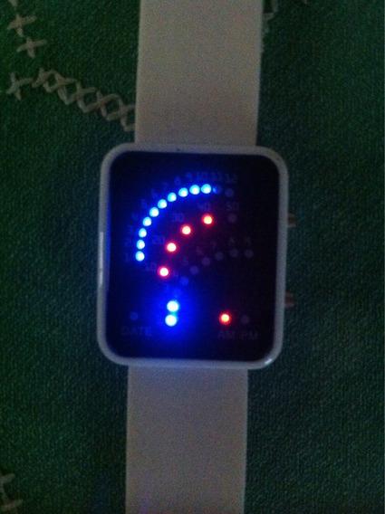 Relógio Masculino Digital 29 Led Pulseira Silicone