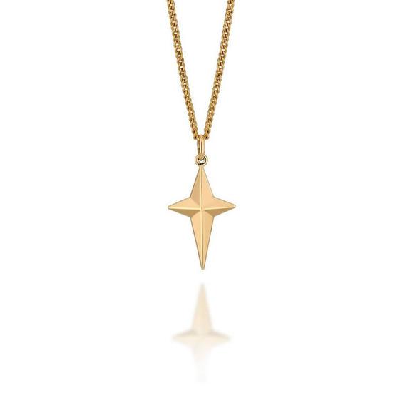 Pingente Estrela De Quatro Pontas F. Ouro Rommanel 541952