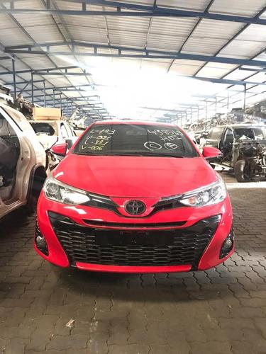 Imagem 1 de 12 de Sucata Toyota Yaris 2019/2019 Flex 110cvs Vermelho