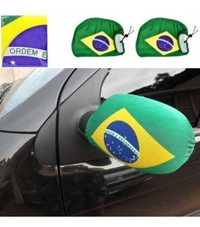 Capa Para Retrovisor De Carro Bandeira Do Brasil Copa 2018