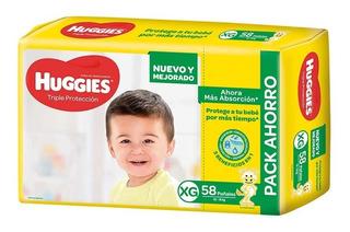 Pañales Huggies Classic Triple Protección Pack Mensual En Todos Los Talles