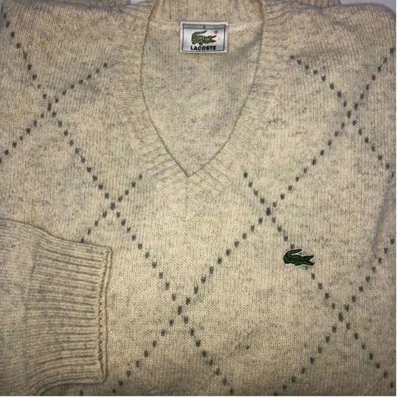 Sweater Hombre Lacoste Talle 3 Gris Claro Rombo Perfecto