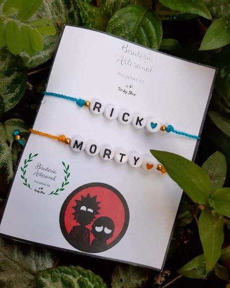 Pulsera Artesanal De Rick Y Morty