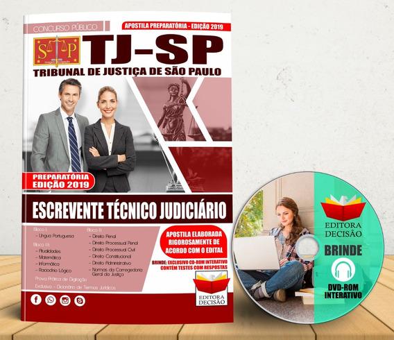 Apostila Tj Sp Escrevente Técnico Judiciário 2019
