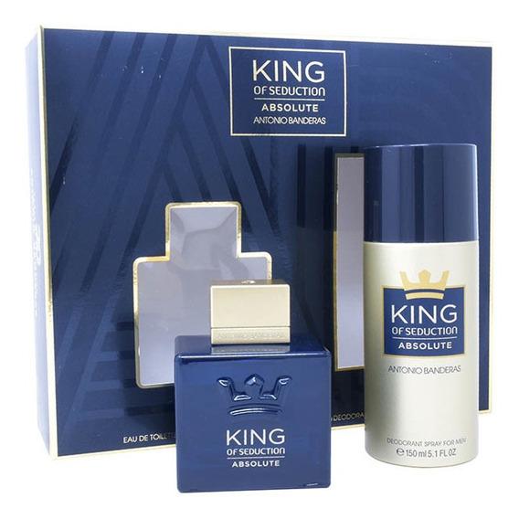 Set King Of Seduction Absolute 2pzs 100ml Edt Spray+ Desodor