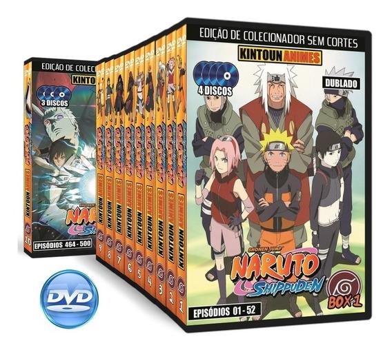 Dvds Naruto Shippuden Completo + Filmes + Ovas Frete Grátis